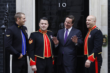 Gary Chilton Musician Robin Gibb And The Soldiers Perform At 10 Downing Street