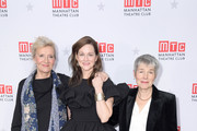 "(L-R) Writer Elizabeth Strout, actress Laura Linney, and playwright Rona Munro attend an after party on the opening night of ""My Name Is Lucy Barton"" at The Copacabana Times Square on January 15, 2020 in New York City."