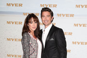 Harry Kewell and Sheree Murphy arrive at the Myer Spring/Summer 2014 Collections Launch at Fox Studios on August 8, 2013 in Sydney, Australia.