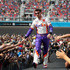 Denny Hamlin Photos - Denny Hamlin, driver of the #11 FedEx Freight Toyota, high fives fans as he is introduced before the NASCAR Cup Series FanShield 500 at Phoenix Raceway on March 08, 2020 in Avondale, Arizona. - NASCAR Cup Series FanShield 500