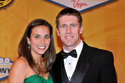 (R-L) NASCAR driver Carl Edwards and his wife Kate arrive at the NASCAR Sprint Cup Series awards banquet at the Wynn Las Vegas Hotel on December 3, 2010 in Las Vegas, Nevada.
