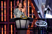 Six-time Olympic medalist Swimmer Rebecca Soni speaks during the NASCAR Sprint Cup Series Champion's Awards Ceremony at the Wynn Las Vegas on November 30, 2012 in Las Vegas, Nevada.