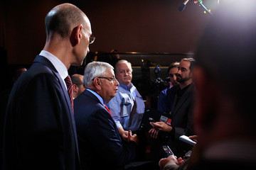 David Stern Adam Silver NBA And Player's Association Meet To Continue Negotiating CBA