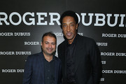 (L-R) Kamal Hotchandani and Scottie Pippen attend the NBA All Star Dinner Honoring Scottie Pippen on February 15, 2018 in Bel Air, California.