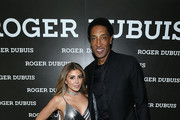 (L-R) Larsa Pippen and Scottie Pippen attend the NBA All Star Dinner Honoring Scottie Pippen on February 15, 2018 in Bel Air, California.