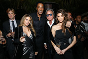 (L-R) Steele Cooper, Larsa Pippen, Scottie Pippen, Mohamed Hadid, and Shiva Safai attend the NBA All Star Dinner Honoring Scottie Pippen on February 15, 2018 in Bel Air, California.
