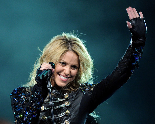 Singer Shakira performs during the NBA All-Star Game held at Cowboys Stadium on February 14, 2010 in Arlington, Texas.