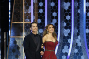 In this handout photo provided by NBCUniversal Media, LLC,  Matt Bomer and Sofía Vergara onstage during the 76th Annual Golden Globe Awards at The Beverly Hilton Hotel on January 5, 2020 in Beverly Hills, California.