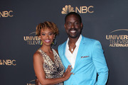 Ryan Michelle Bathe and Sterling K. Brown attend the NBC and Universal EMMY nominee celebration at Tesse Restaurant on August 13, 2019 in West Hollywood, California.