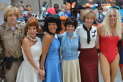 """(L-R) Carson Daly, Kathie Lee Gifford, Hoda Kotb, Natalie Morales, Savannah Guthrie and Matt Lauer attend NBC's """"Today"""" Halloween 2013 in Rockefeller Plaza on October 31, 2013 in New York City."""