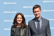 Jenni Pulos and Jeff Lewis attend the NBCUniversal 2016 Upfront Presentation on May 16, 2016 in New York, New York.