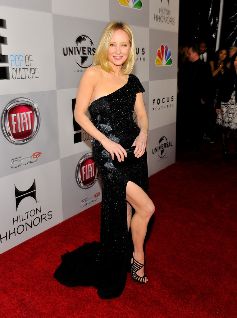Anne Heche In Nbcuniversal Golden Globes Viewing And After