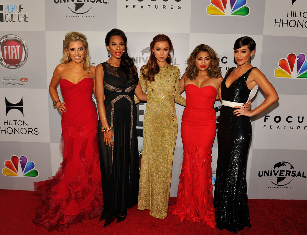 Frankie Sandford and Rochelle Humes Photos Photos - NBCUniversal Golden Globes Viewing And After Party - Red Carpet - Zimbio