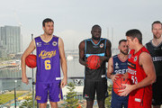 Damian Martin of the Perth Wildcats; Majok Majok of the New Zealand Breakers; Andrew Bogut of the Sydney Kings; Adam Doyle of the Adelaide 36ers and David Barlow of Melbourne United  look on during a NBL Media Opportunity on June 27, 2018 in Melbourne, Australia.  The National Basketball Association (NBA) and the National Basketball League (NBL) today announced that for the second consecutive year, NBL teams will travel to the U.S. to participate in the NBA preseason. Five NBL teams, including the Adelaide 36ers, Melbourne United, New Zealand Breakers, Perth Wildcats and Sydney Kings, will play a total of seven games against NBA teams in the 2018 NBA preseason, including the Denver Nuggets, LA Clippers, Philadelphia 76ers, Phoenix Suns, Toronto Raptors and Utah Jazz, from Sept. 28 Ð Oct. 5.