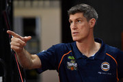 Taipans coach Mike Kelly looks on before the start of the round two NBL match between the Cairns Taipans and the Illawarra Hawks at Cairns Convention Centre on October 21, 2018 in Cairns, Australia.