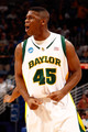 Tweety Carter #45 of the Baylor Bears reacts during the game against the Sam Houston State Bearkats during the first round of the 2010 NCAA men's basketball tournament at the New Orleans Arena on March 18, 2010 in New Orleans, Louisiana.  Baylor defeated Sam Houston State 68-59.