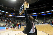 Head coach Avery Johnson of the Alabama Crimson Tide celebrates after defeating the Virginia Tech Hokies in the game in the first round of the 2018 NCAA Men's Basketball Tournament at PPG PAINTS Arena on March 15, 2018 in Pittsburgh, Pennsylvania.