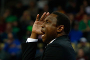 Head coach Avery Johnson of the Alabama Crimson Tide reacts against the Villanova Wildcats during the first half in the second round of the 2018 NCAA Men's Basketball Tournament at PPG PAINTS Arena on March 17, 2018 in Pittsburgh, Pennsylvania.