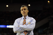 Head coach Billy Donovan of the Florida Gators reacts as he coaches in the first half against the Norfolk State Spartans during the third round of the 2012 NCAA Men's Basketball Tournament at CenturyLink Center on March 18, 2012 in Omaha, Nebraska.
