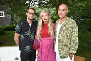 (L-R) Brendan Fallis, Kate Foley and Max Osterweis attend The GOOD+ Foundation's Hamptons Summer Dinner co-hosted by NET-A-PORTER on July 29, 2017 in East Hampton, New York.