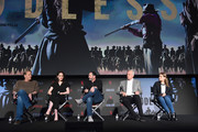 "Actor Bill Pullman, actress Michelle Dockery, creator/writer Scott Frank, executive producer Casey Silver and actress Merritt Wever attend #NETFLIXFYSEE For Your Consideration Event For ""Godless"" at Netflix FYSEE At Raleigh Studios on June 9, 2018 in Los Angeles, California."