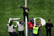 Musician Jimmy Buffett sings the national anthem prior to the NFC Championship game between the Los Angeles Rams and the New Orleans Saints at the Mercedes-Benz Superdome on January 20, 2019 in New Orleans, Louisiana.