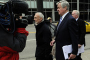 NFL lawyer Bob Batterman (L), owner Jerry Richardson of the Carolina Panthers and owner Jerry Jones of the Dallas Cowboys leave court ordered mediation at the U.S. Courthouse on April 19, 2011 in Minneapolis, Minnesota. Mediation was order after a hearing on an antitrust lawsuit filed by NFL players against the NFL owners after labor talks between the two broke down last month.