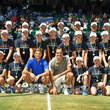 Roger Federer and David Goffin Photos