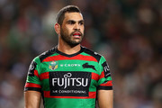 Greg Inglis of the Rabbitohs looks on during the NRL Preliminary Final match between the Sydney Roosters and the South Sydney Rabbitohs at Allianz Stadium on September 22, 2018 in Sydney, Australia.