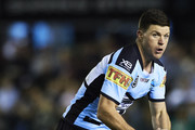 Chad Townsend of the Sharks looks to pass the ball during the round 20 NRL match between the Cronulla Sharks and the South Sydney Rabbitohs at Shark Park on August 03, 2019 in Sydney, Australia.