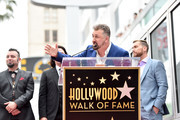 Joey Fatone speaks onstage during the ceremony honoring NSYNC with a star on the Hollywood Walk of Fame on April 30, 2018 in Hollywood, California.