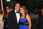 """Jimmy Fallon and Nancy Juvonen attend the """"Schiaparelli And Prada: Impossible Conversations"""" Costume Institute Gala at the Metropolitan Museum of Art on May 7, 2012 in New York City."""