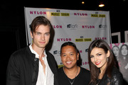 (L-R) Actor Pierson Fode, Rembrandt Flores and actress/singer Victoria Justice attend NYLON x Aloft Hotels celebrate The Music Issue with cover star HAIM on May 26, 2014 in Los Angeles, California.