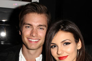 Actor Pierson Fode (L) and actress/singer Victoria Justice attend NYLON x Aloft Hotels celebrate The Music Issue with cover star HAIM on May 26, 2014 in Los Angeles, California.