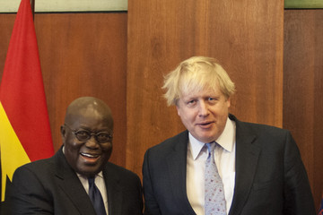 Nana Akufo-Addo British Foreign Secretary Boris Johnson on Official Visit to Ghana