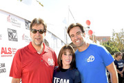 """(L-R) President & CEO of The ALS Association Golden West Chapter Fred Fisher, Kate Linder, and Elex Michaelson attend the Nanci Ryder's """"Team Nanci"""" participates in the 15th Annual LA County Walk to Defeat ALS at Exposition Park on October 15, 2017 in Los Angeles, California."""