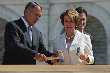 Nancy Pelosi Eric Cantor Joint Congressional Committee On Inaugural Ceremonies Begins Inaugural Platform Construction