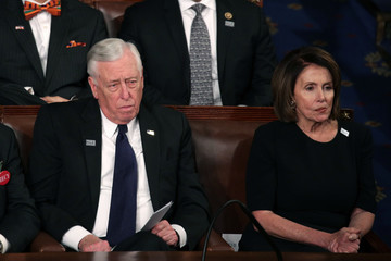 Nancy Pelosi Steny Hoyer Trump Addresses the Nation in His First State of the Union Address to Joint Session of Congress