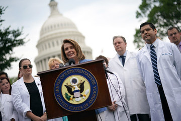 Nancy Pelosi Pelosi, House Democrats Discuss Republican Healthcare Proposal