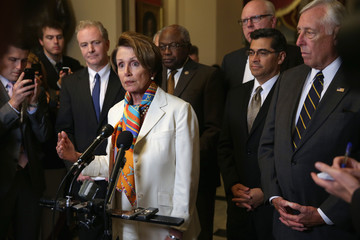Nancy Pelosi Xavier Becerra Congress Meets as Government Shutdown Looms