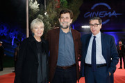 Piera Detassis, Nanni Moretti and Antonio Monda walk the red carpet during the 12th Rome Film Fest at Auditorium Parco Della Musica on October 30, 2017 in Rome, Italy.