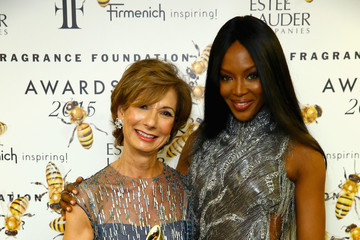 Naomi Campbell Backstage at the 2015 Fragrance Foundation Awards