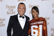 Joe Zee (L) and June Ambrose attend Naomi Campbell's Fashion For Relief Charity Fashion Show during Mercedes-Benz Fashion Week Fall 2015 at The Theatre at Lincoln Center on February 14, 2015 in New York City.