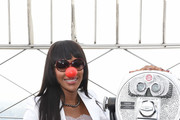 Naomi Campbell Lights Empire State Building in Celebration of Red Nose Day