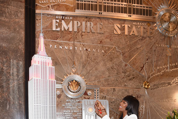 Naomi Campbell Naomi Campbell Lights Empire State Building in Celebration of Red Nose Day