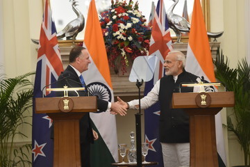 Narendra Modi New Zealand Prime Minister John Key on Official Visit to India