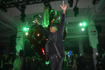 Nas Moet Hennessy at amfAR's the Fabulous Fund Fair