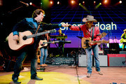 Marty Raybon of Shenandoah and Brad Paisley perform onstage during Nashville's 80's dance party to end ALZ benefitting the Alzheimer's Association on September 29, 2019 in Nashville, Tennessee.