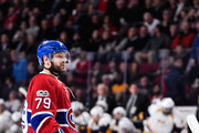 Andrei Markov #79 of the Montreal Canadiens looks on during the NHL game against the Nashville Predators at the Bell Centre on March 2, 2017 in Montreal, Quebec, Canada.  The Montreal Canadiens defeated the Nashville Predators 2-1.