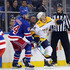 Kyle Turris Photos - Adam McQuaid #54 of the New York Rangers gets the stick on Kyle Turris #8 of the Nashville Predators during the third period at Madison Square Garden on October 04, 2018 in New York City. The Predators defeated the Rangers 3-2. - Nashville Predators vs. New York Rangers